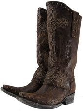 BRIDE S BOOTS The Old Gringo Krusts ladies cowgirl boot in brass vesuvio  leather combines Victorian charm b3d50347887