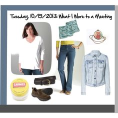 """Tuesday, 10/15/2013: What I Wore to a Meeting"" by beautyandserendipity on Polyvore"