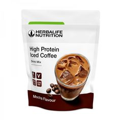 Productos de Herbalife para el control de peso 👀 Iced Coffee Drinks, Herbalife Nutrition, Mocca, Mixed Drinks, Stevia, High Protein, Fat, Tableware, Whey Protein