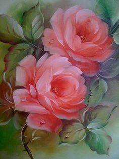 Pink Tango by Nancy Medina Fabric Painting, Painting & Drawing, Watercolor Paintings, Flower Prints, Flower Art, Rose Art, Arte Floral, Beautiful Roses, Beautiful Paintings