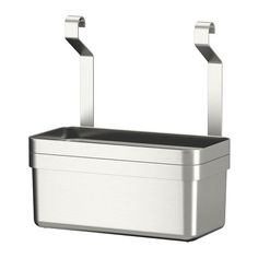 IKEA GRUNDTAL Container Stainless steel cm Helps free up space on your worktop while keeping cooking utensils close at hand. Cutlery Caddy, Utensil Storage, Stainless Steel Containers, Stainless Steel Utensils, Kitchen Wall Storage, Ikea Kitchen, Cooking Utensils, Kitchen Utensils, Ikea Grundtal