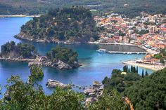 Parga Bay, Epirus, Greece.