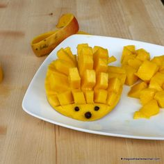 How to Dice a Mango - The Good Hearted Woman