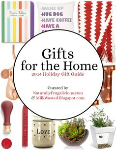 Gifts for the Home - Holiday Gift Ideas, Holiday Gift Guide | as Curated by NaturallyFrugalicious.com & MilkWasted.Blogspot.com