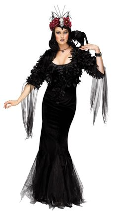 08d8d277069c Raven Mistress Lg. Floor Length GownWitches Costumes For WomenWitch ...