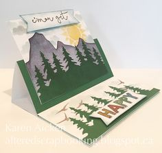 Altered Scrapbooking: C4C 347 Stand-Up Pull Card