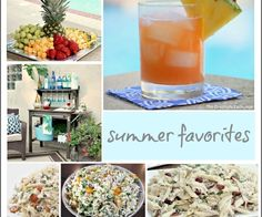 Collection of summer recipes and entertaining ideas from The Creativity Exchange