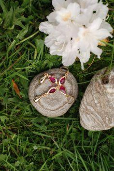 Pink Gem Earrings