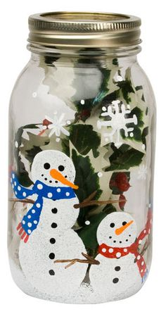 DecoArt® Snowmen Jar #craft #snowman #winter