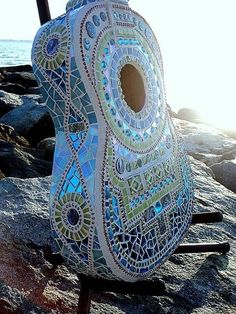 Blue mosaic guitar...