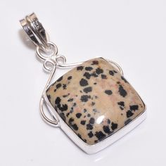 Charming Dolamite .925 Silver Handmade Designer Pendant Jewelry H34 #Handmade