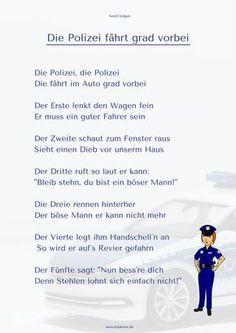 Polizei Fingerspiel Kitakiste