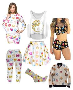 """""""Emoji❤️"""" by lenapena2016 on Polyvore featuring HOT SOX"""