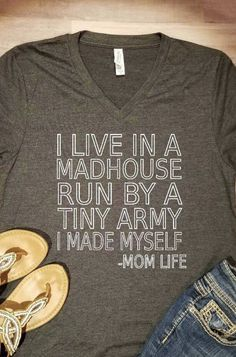 2460119c Live In A Madhouse Shirt, Mom Shirt, Mothers Day Shirt, Mothers Day Gift, Funny  Mom Shirt, Gift for Mom, Gift for Her, Mama Tshirt
