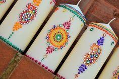 Henna Pillar Candles: