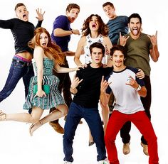Max Carver, Daniel Sharman, Charlie Carver, Holland Roden, Crystal Reed, Tyler Hoechlin, Dylan O'Brien, and Tyler Posey