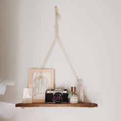 Hanging Shelf, Pallet Wood Shelf, Swing Shelf, Reclaimed Wood Shelf, Pallet Art, Suspended Shelf, Wall Art, Pallet Art