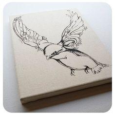 Bird Canvas Print 9x12 by Boomerang360 on Etsy
