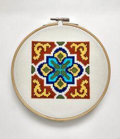 Easter Cross, Modern Cross Stitch Patterns, Nursery Wall Decor, Beautiful Patterns, Happy Mothers, Cross Stitching, Embroidery, Tile, Handmade Gifts