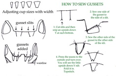 how to sew gussets