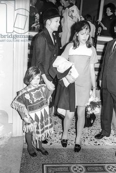 Fancy dress ball for the third Thursday in Lent in Monaco, March 5, 1969 : Princess Grace of Monaco, young Princess Stephanie and Princess Caroline
