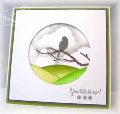 Poppy Stamps Nested Bird die (817) and Memory Box Woodland Branch die (98187) by bfinlay at Splitcoaststampers