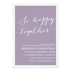 Lavender Wedding Anniversary Invitations
