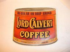 Old Vtg Collectible Lord Calvert Coffee Vasper Tea Needle Ad Book Baltimore
