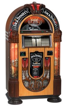 Jack Daniels Nostalgic Bubbler CD Jukebox from ManCaveGiant.com