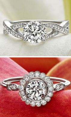 I'm obsessed with the extra sparkle the halo adds to this Brilliant Earth engagement ring.