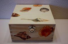 Theedoos schelpen by Teddys-gifts via DaWanda