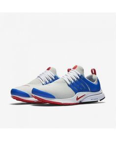 Air Presto Essential Dusty Grey Hyper Cobalt White University Red Trainers  Nike Running Trainers ef92c18fff
