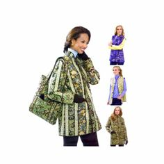 Womens Reversible Jacket Vest Tote Butterick 5532 Sewing Pattern