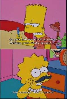 Bart n lisa simpsons Funny Pictures With Words, Funny Pictures Tumblr, Simpsons Funny, Simpsons Quotes, Simpson Tv, Amazon Prime Day Deals, Reddit Funny, Cartoon Shows, Cool Cartoons