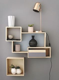Eye-Opening Cool Tips: Floating Shelf Decor Kitchen long floating shelves sinks.Floating Shelves Above Couch Farmhouse wooden floating shelves kitchen.Floating Shelves Above Couch Farmhouse. Geometric Furniture, Home Furniture, Furniture Design, Furniture Ideas, Bedroom Furniture, Diy Bedroom, Cheap Furniture, Bedroom Shelves, Apartment Furniture