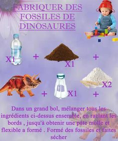 Your kids are budding archaeologists and you want to build very realistic fossils for them to have fun discovering small dinosaurs hidden inside the rocks? Diy Toys And Games, Dinosaurs Preschool, Winter Songs, Dinosaur Fossils, Birthday Party Themes, Have Fun, Crafts For Kids, Activities, Ideas