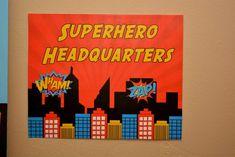 Pamela A's Birthday / Superhero - Photo Gallery at Catch My Party Superhero Signs, Superhero Teacher, Superhero Ideas, Employee Appreciation, Teacher Appreciation Week, Super Hero Decorations, Pe Board, Noah Webster, Teacher Morale