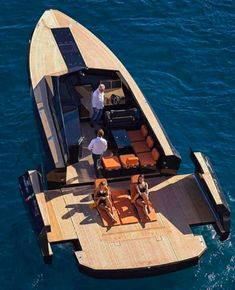 Luxury yacht design interior trip sailing and having private party on super mega boat life style for vacation and wedding on deck with style ond model of black and etc Yacht Design, Boat Design, Cool Boats, Small Boats, Super Yachts, Riva Boot, Canoa Kayak, Yacht Boat, Mini Yacht