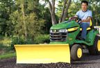 John Deere X300 with 44-inch Front Blade