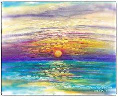 Shanty art: Sunset in goa