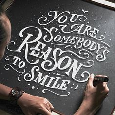 """You are somebody's reason to smile"" By:@ta.len.ta ___ Featured 