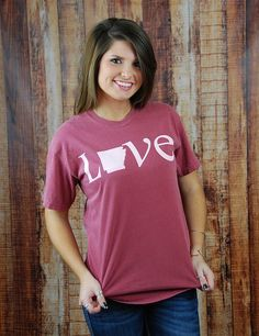 ac65659b3d You know you love Arkansas! Show it in this new short-sleeve Comfort Color