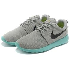 the latest 3b538 15b9d Cheap Sale 2013 New Womens Nike Roshe Run Shoes Gray Jade Black - Womens  Roshe Run Shoes