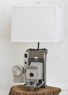 Vintage Polaroid 800 Land Camera Lamp With by ReImaginedVintageLLC