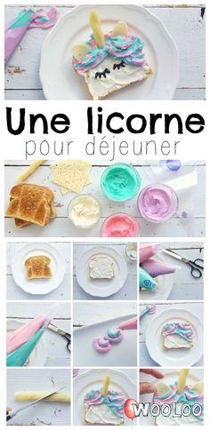 Voici comment faire un jolie licorne pour déjeuner ✨ #licorne #unicorn #toast #déjeuner