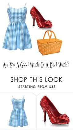 """Wizard Of Oz Dorothy(Day 4 Set 5)"" by softballgirl011 ❤ liked on Polyvore featuring Funtasma and Picnic at Ascot"