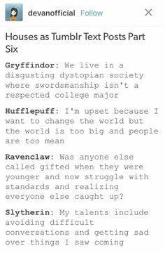 Wow I Now Know Why Used To Be Slytherin And Am Ravenclaw