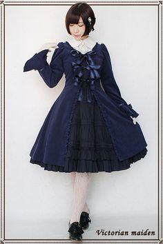 マニエラリボンオーバードレス Victorian maiden