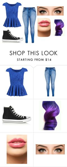 """Sky"" by jessie-greynolds on Polyvore featuring City Chic, Converse, LASplash, women's clothing, women, female, woman, misses and juniors"