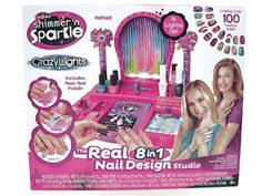 Cra-z-art Shimmer and Sparkle Crazy Lights Super Nail Salon Kit Bundle with Cra Z Art Fab Foilz Tattoo Set Box 2 Items Ages: 8-15 Years * You can find out more details at the link of the image.